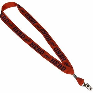 "1"" One Ply Cotton Lanyard"