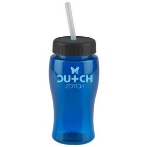18 oz. Pure-Poly Junior Sports Bottle - Straw Lid